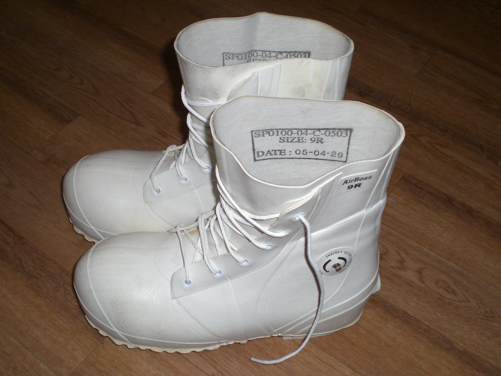 White Military Bunny Boots