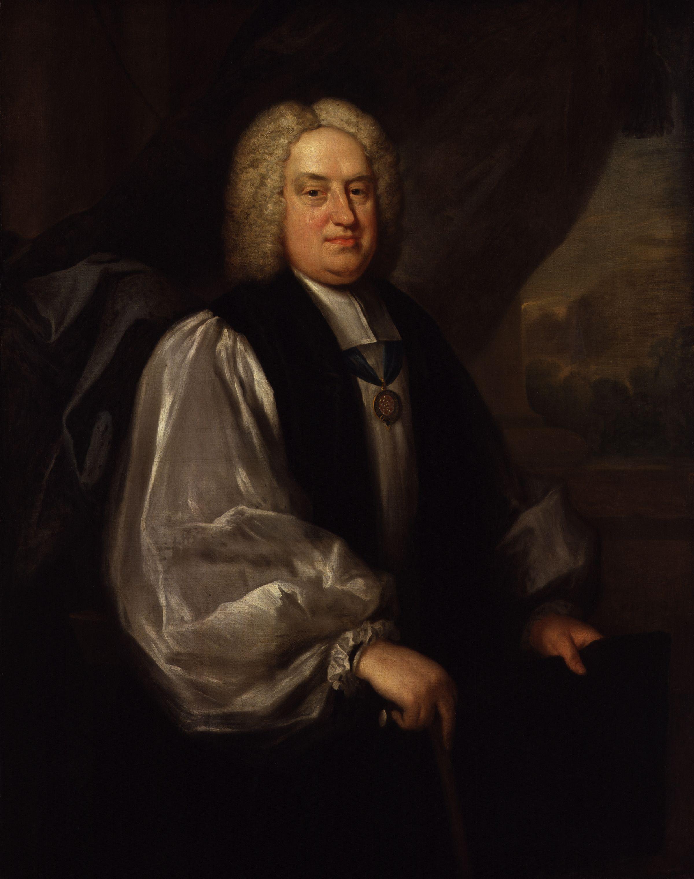 Benjamin Hoadly, painted by [[Sarah Hoadly]]