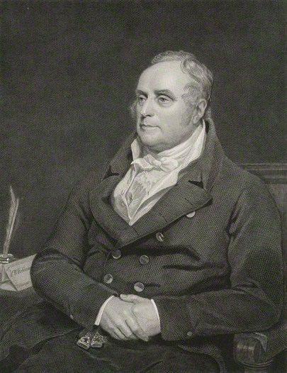 Sir Benjamin Hobhouse, 1825 engraving