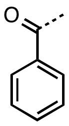 The benzoyl functional group.