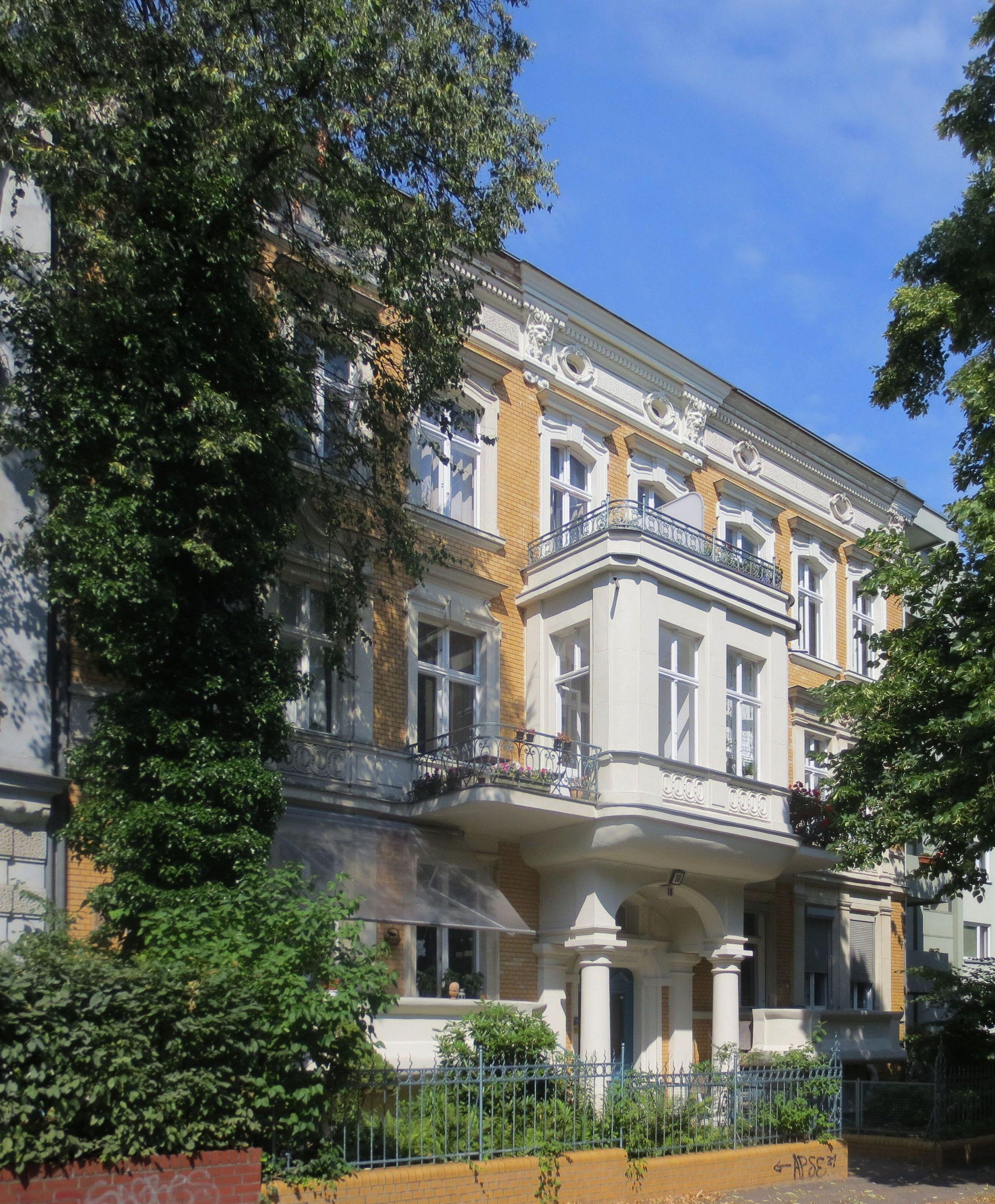 file berlin schoeneberg wielandstrasse 18 wikimedia commons. Black Bedroom Furniture Sets. Home Design Ideas