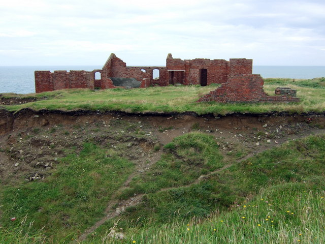 Brick ruins across the quarry, Porthgain - geograph.org.uk - 929163