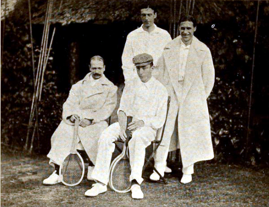 British and belgium davis cup teams, 1904