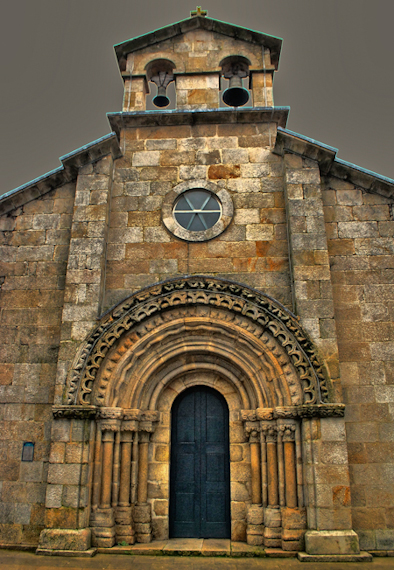 Capela románica de San Roque, Melide, Galicia ...