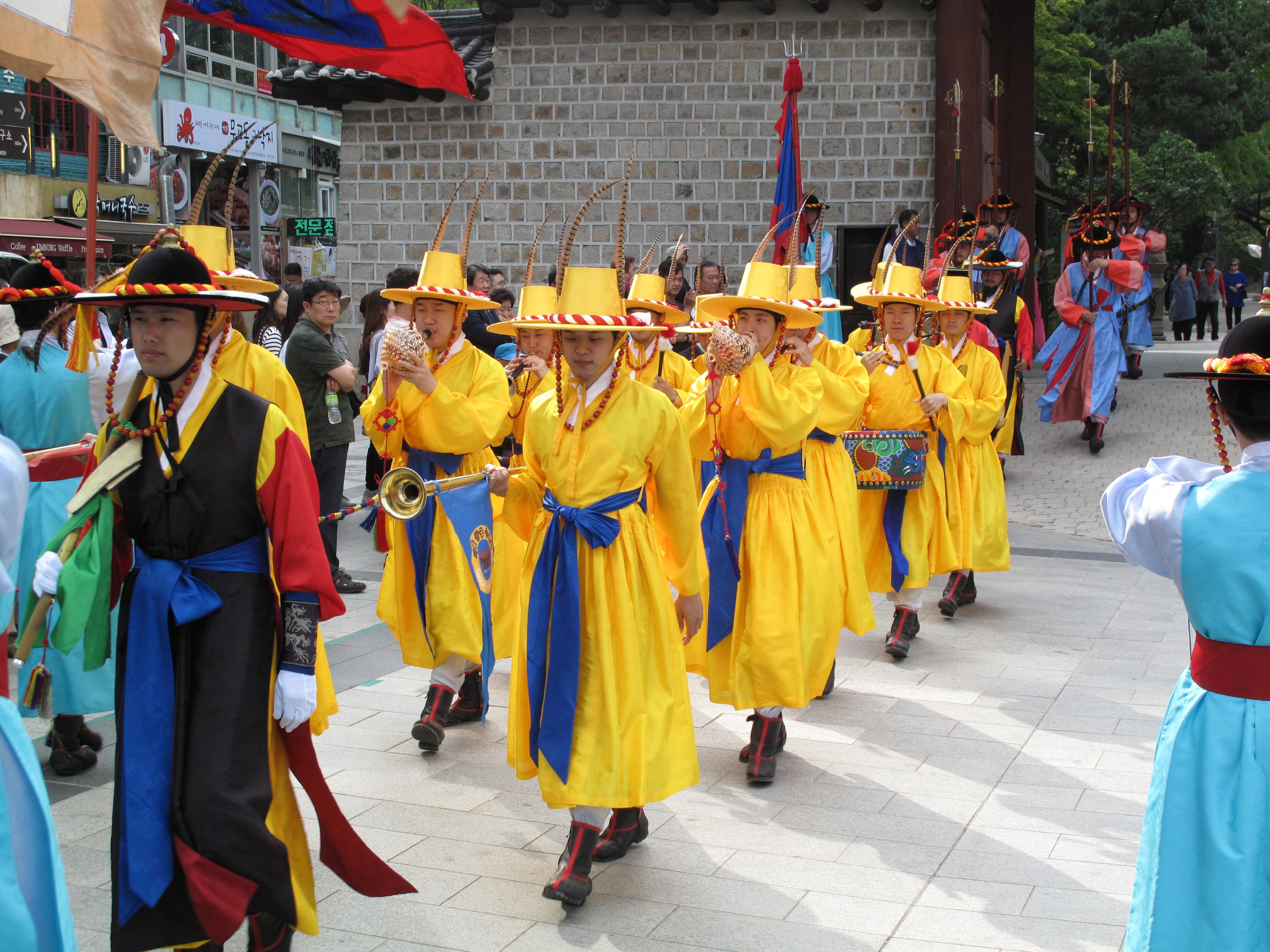 File:Changing of the Guard at Deoksugung Palace IMG 2073 jpg