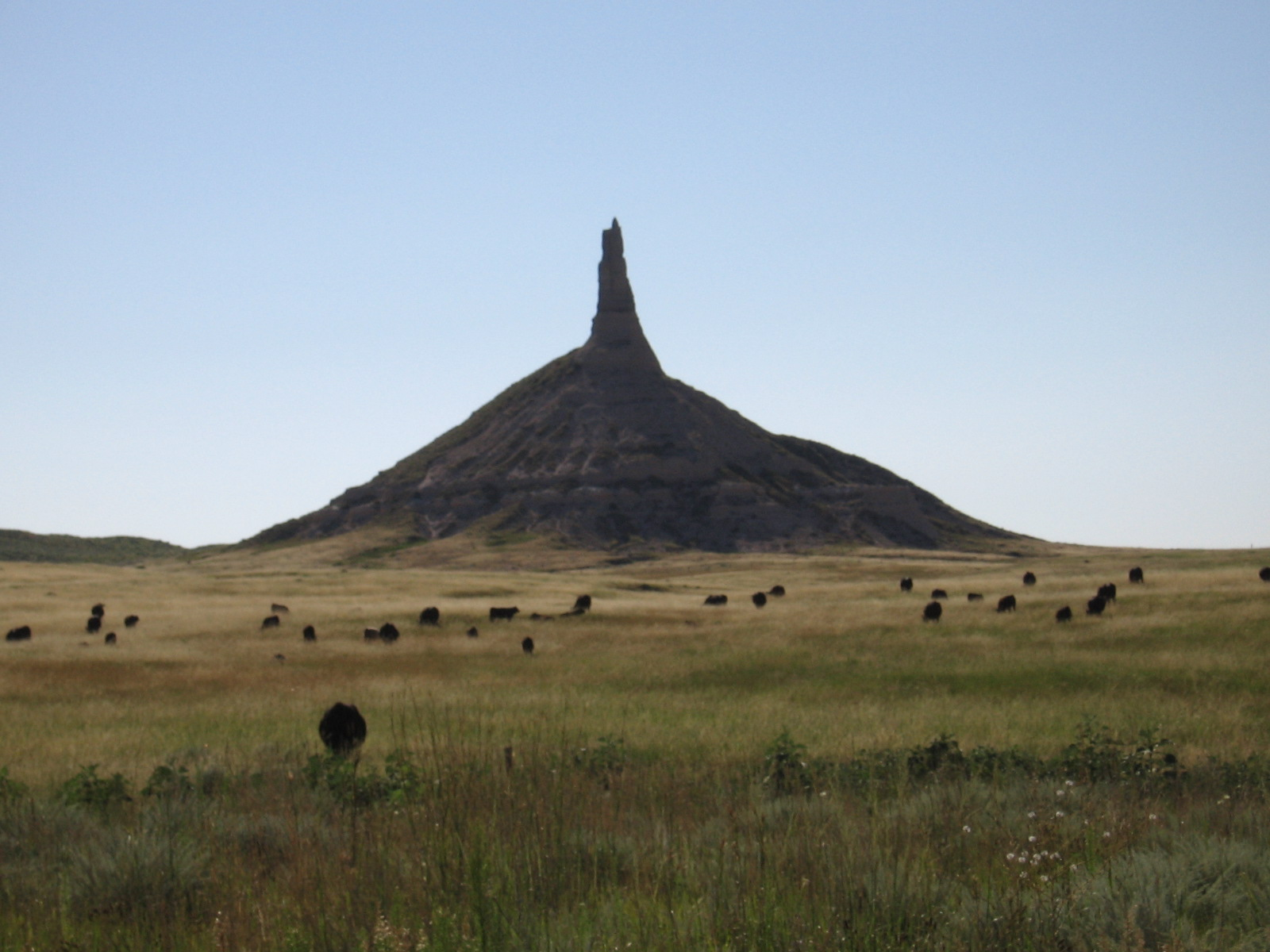 On The Oregon Trail Chimney Rock