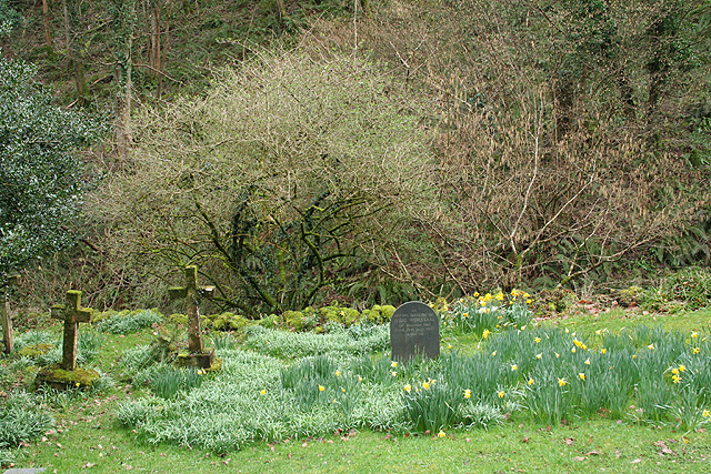 Churchyard of St Beuno's Church, Culbone, Somerset