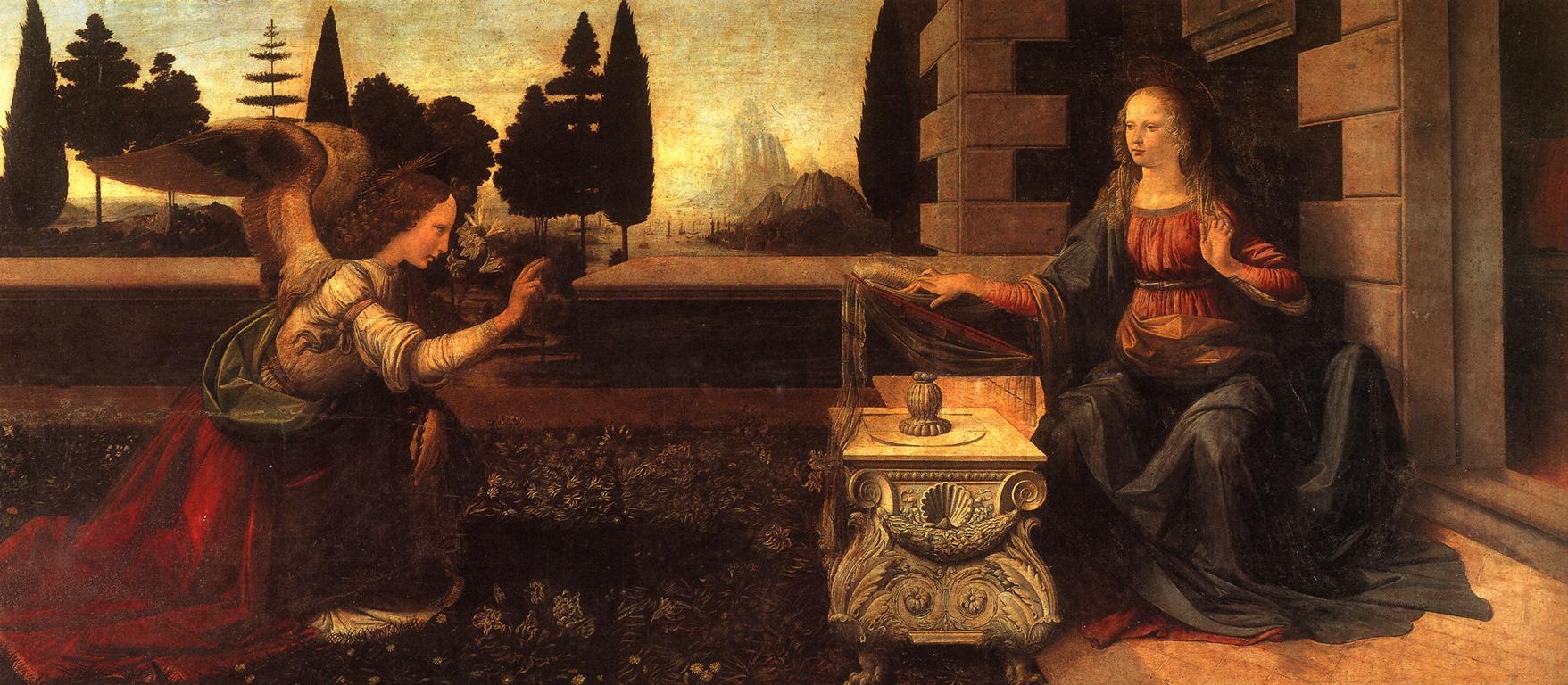 Saint Gabriel archange Da_Vinci_The_Annunciation