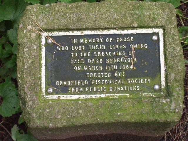 Dale Dyke Memorial plaque - geograph.org.uk - 958479