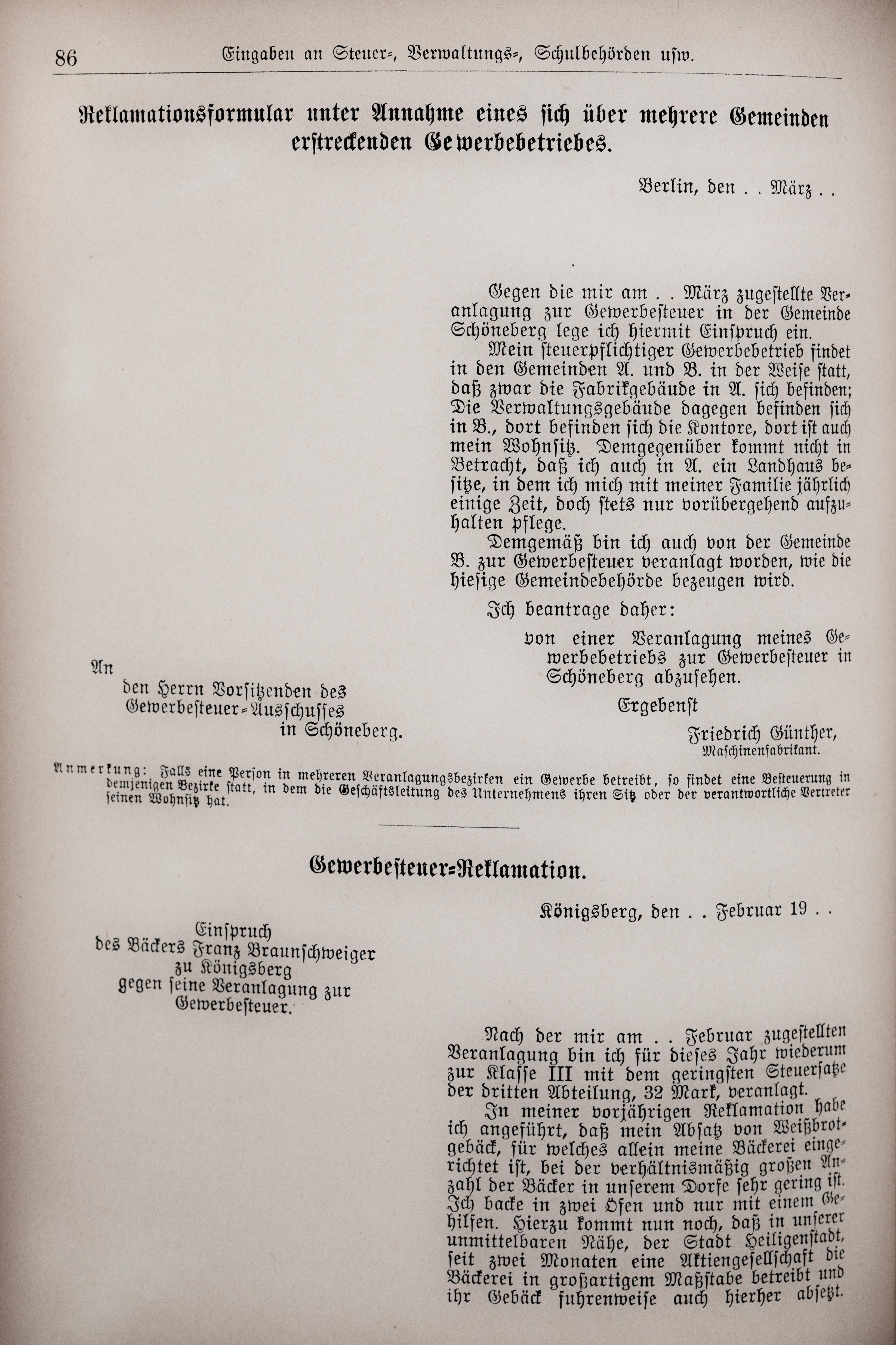 Fileder Haussekretär Hrsg Carl Otto Berlin Ca 1900 Seite 086jpg