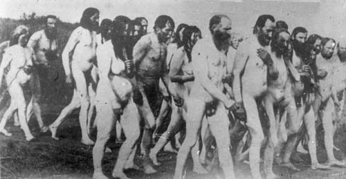 Doukhobor nude protest march