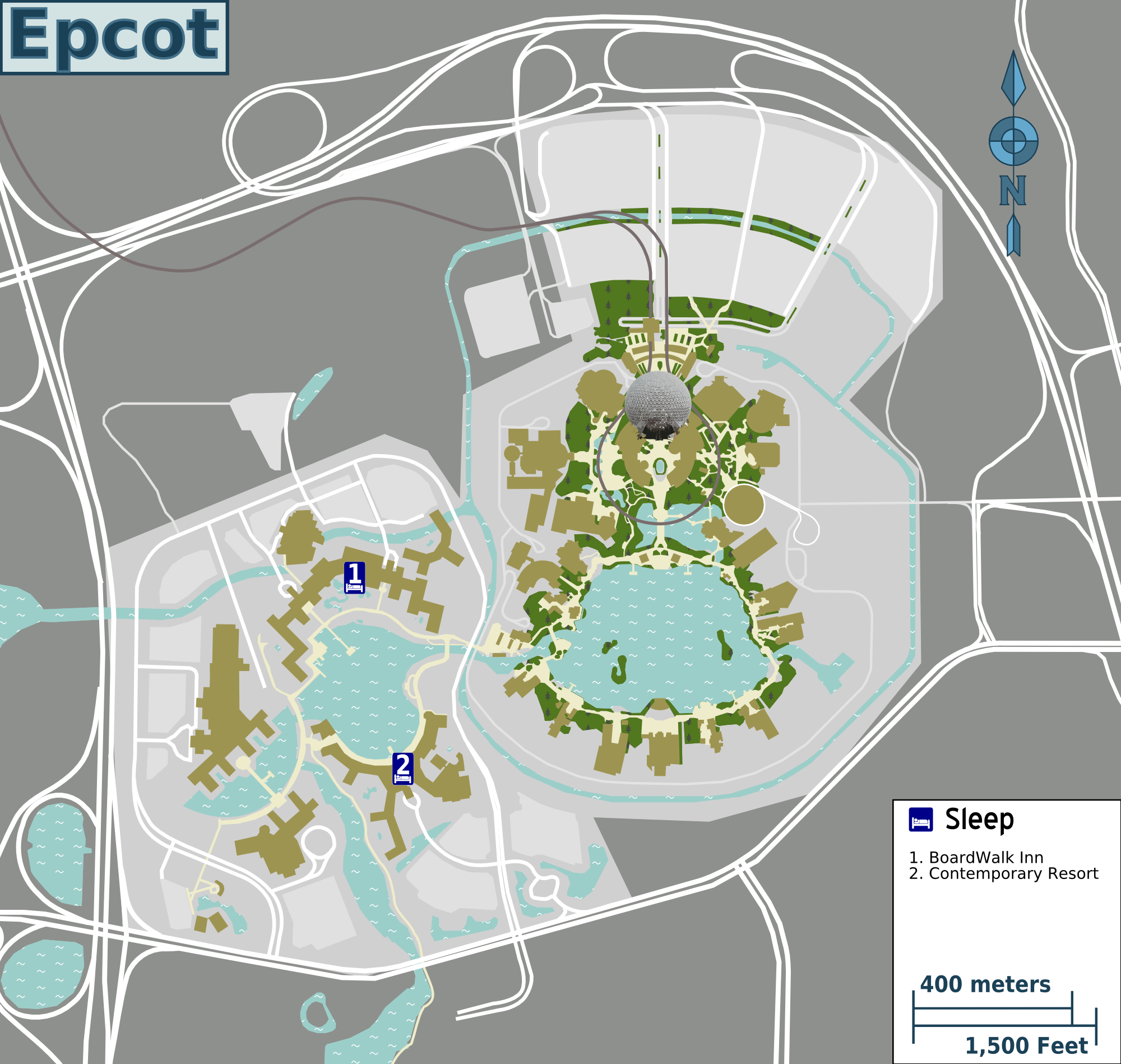 File:Epcot and resorts map.png - Wikimedia Commons