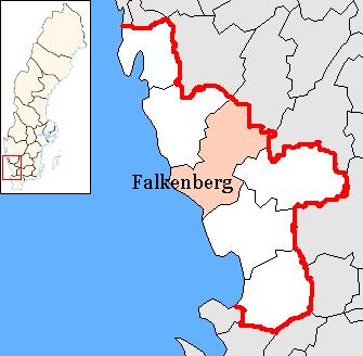 falkenberg sverige kart Falkenbergs kommun   Wikipedia, den frie encyklopædi falkenberg sverige kart