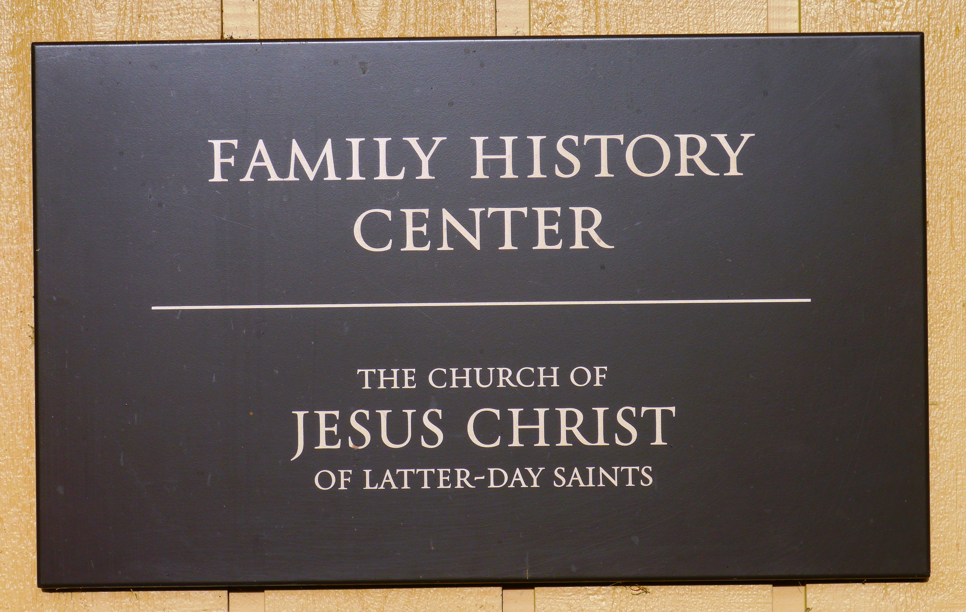 Family History Center (LDS Church) - Wikipedia