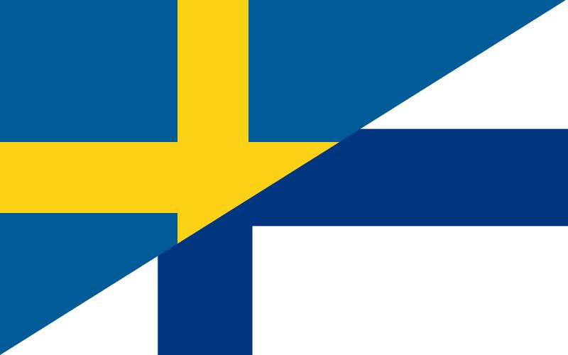 Ruotsi-suomi lippu