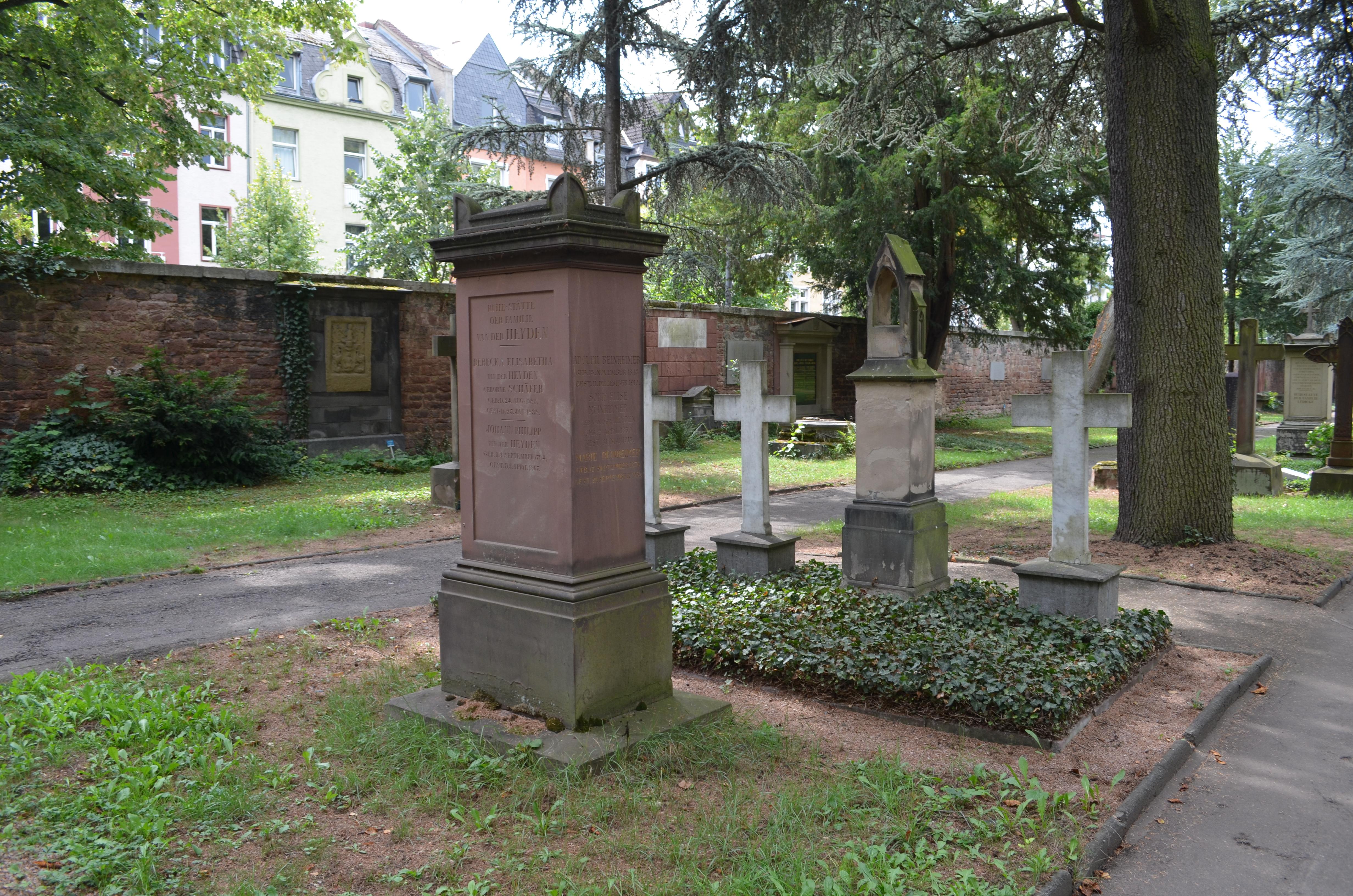 Dateifrankfurt Hauptfriedhof Grab C 154 Van Der Heydenjpg