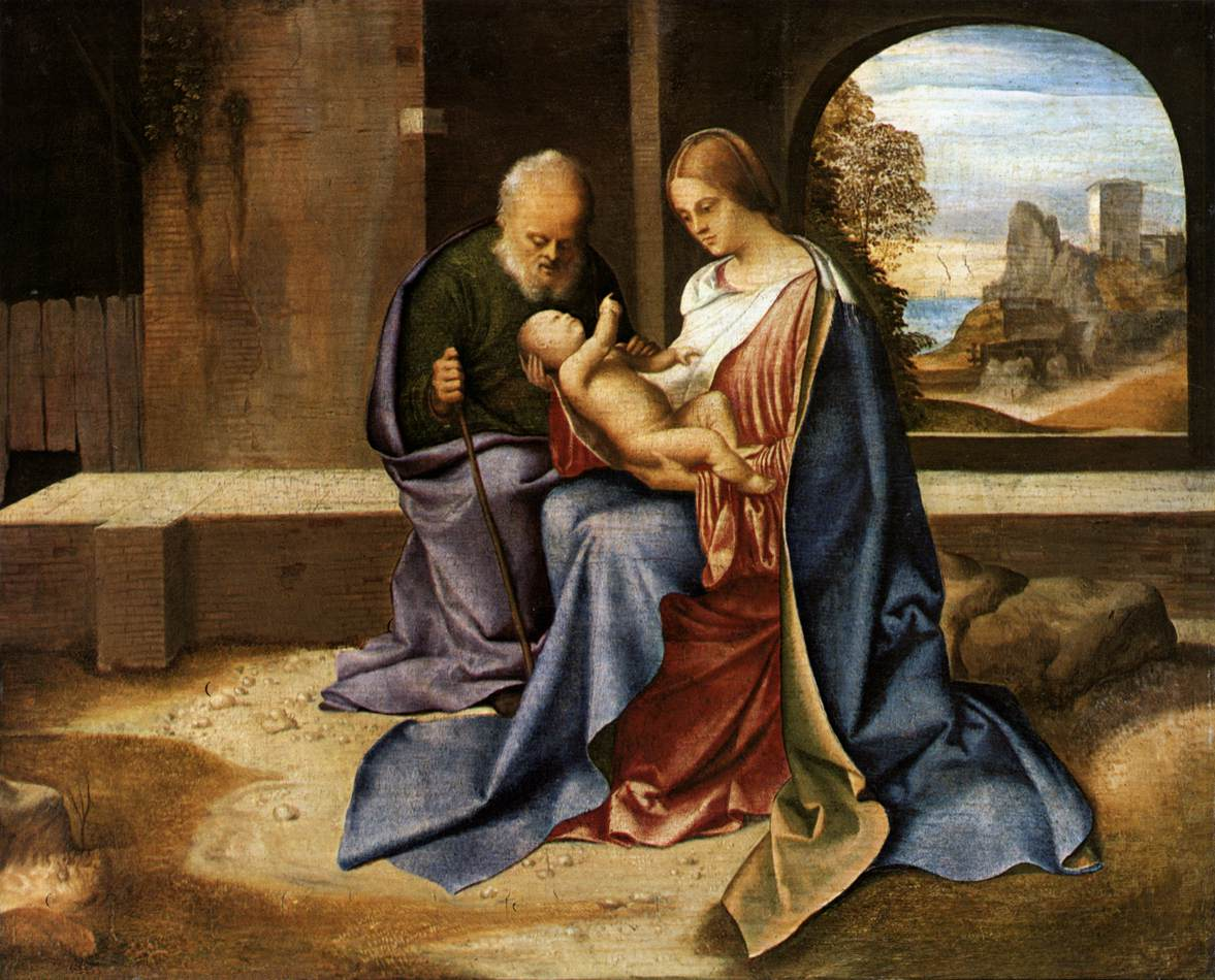 Sacra Famiglia Benson -1500 -Giorgione