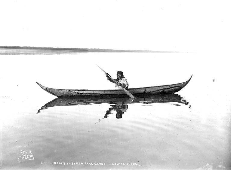 FileIndian In Birchbark Canoe Lower Yukon River Probably Alaska Ca 1901
