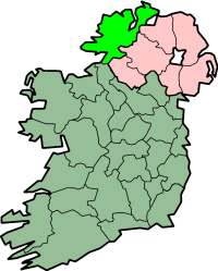 centerMap highlighting County Donegal