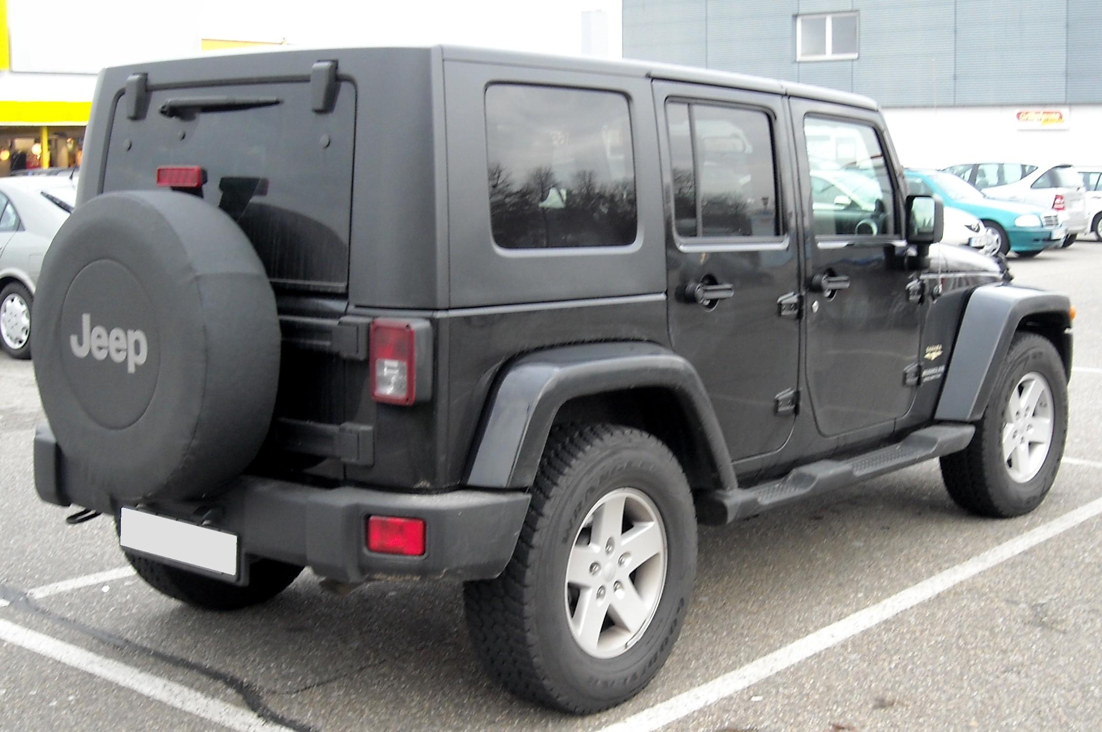 Wrangler Jl Sport >> File:Jeep Wrangler Unlimited rear 20081213.jpg - Wikimedia Commons