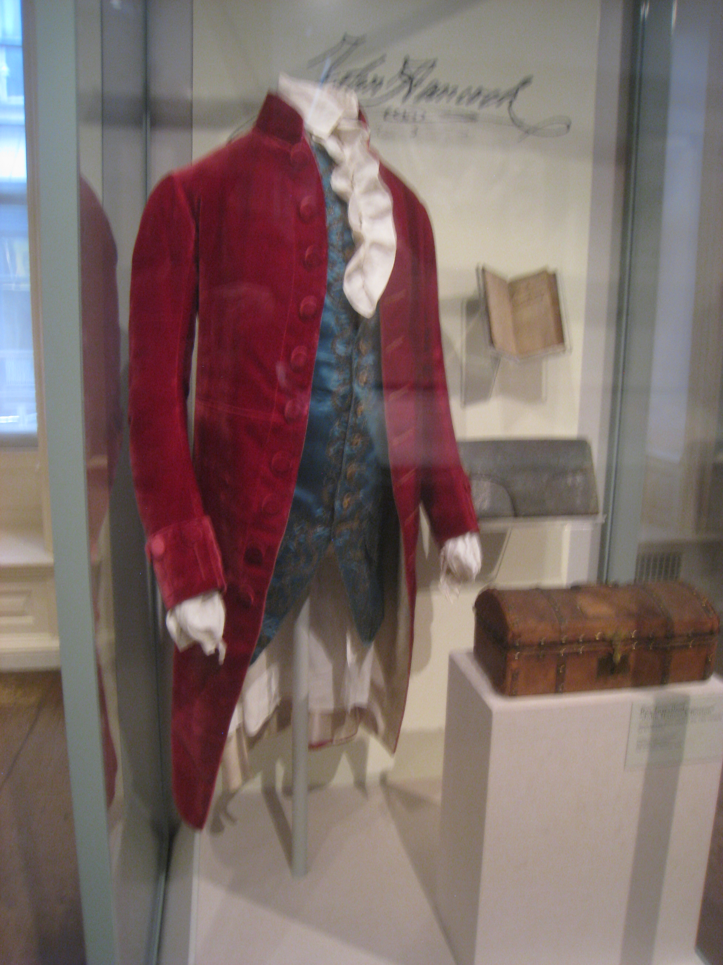 File John Hancock S Coat Circa 1780 Old State House