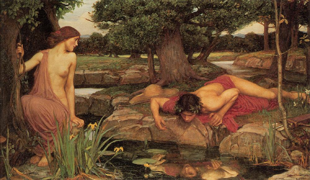 Ηχώ και Νάρκισσος του John William Waterhouse