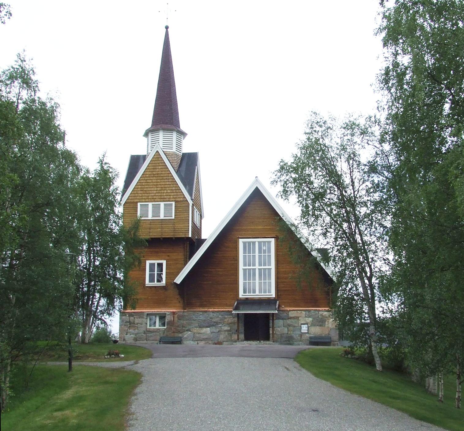 Bild av Karesuando kyrka
