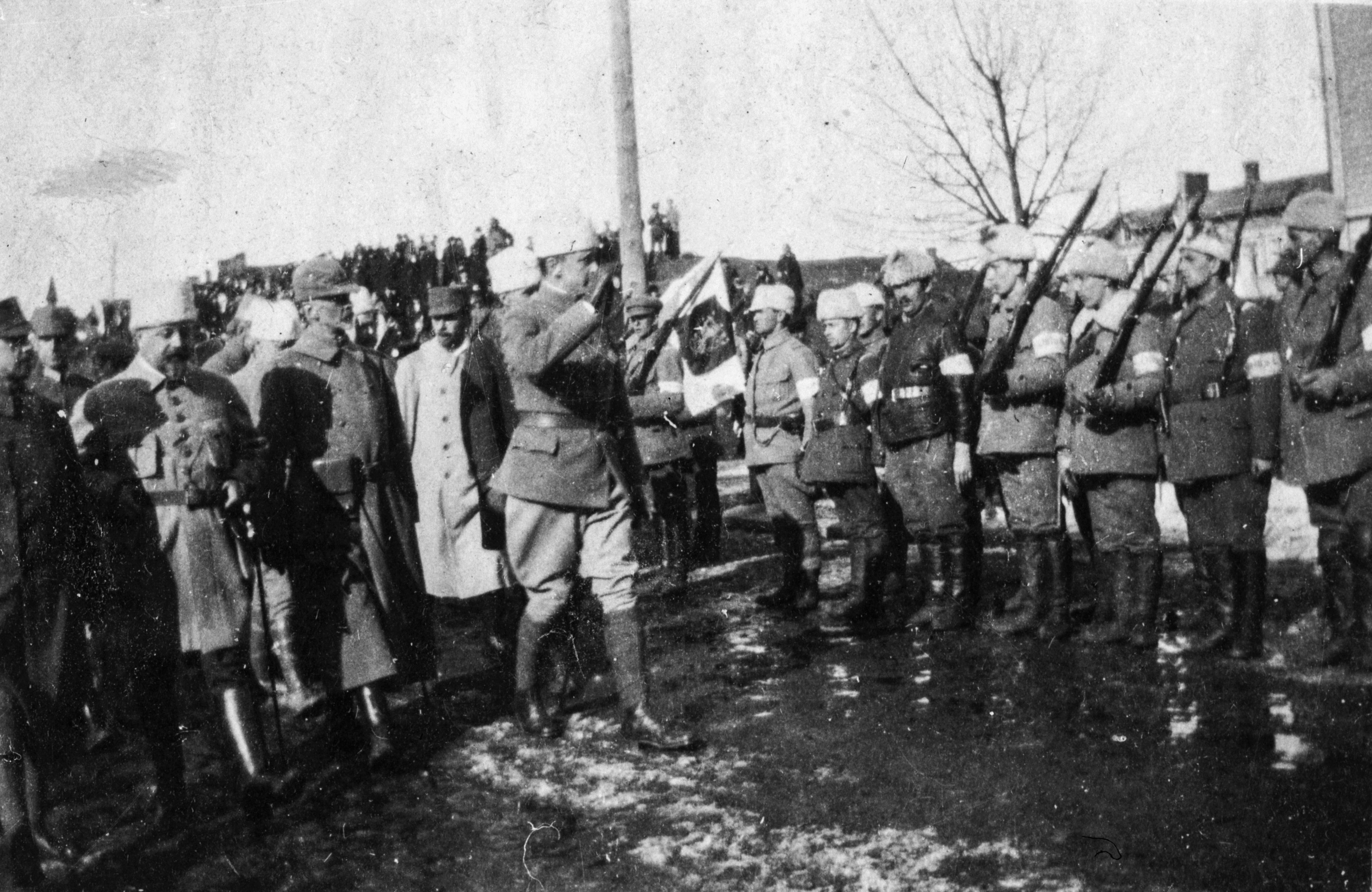 Kenraali Mannerheim tarkastaa joukkoja valkoisten voitonparaatissa Tampereella (26936599316).jpg
