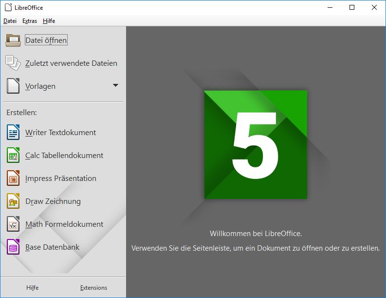 Die Oberfläche von LibreOffice sieht zwar nicht so modern aus wie die von der aktuellen Windows Office Suite, ihren Zweck erfüllt das Open Source Projekt trotzdem (Quelle: Wikipedia)
