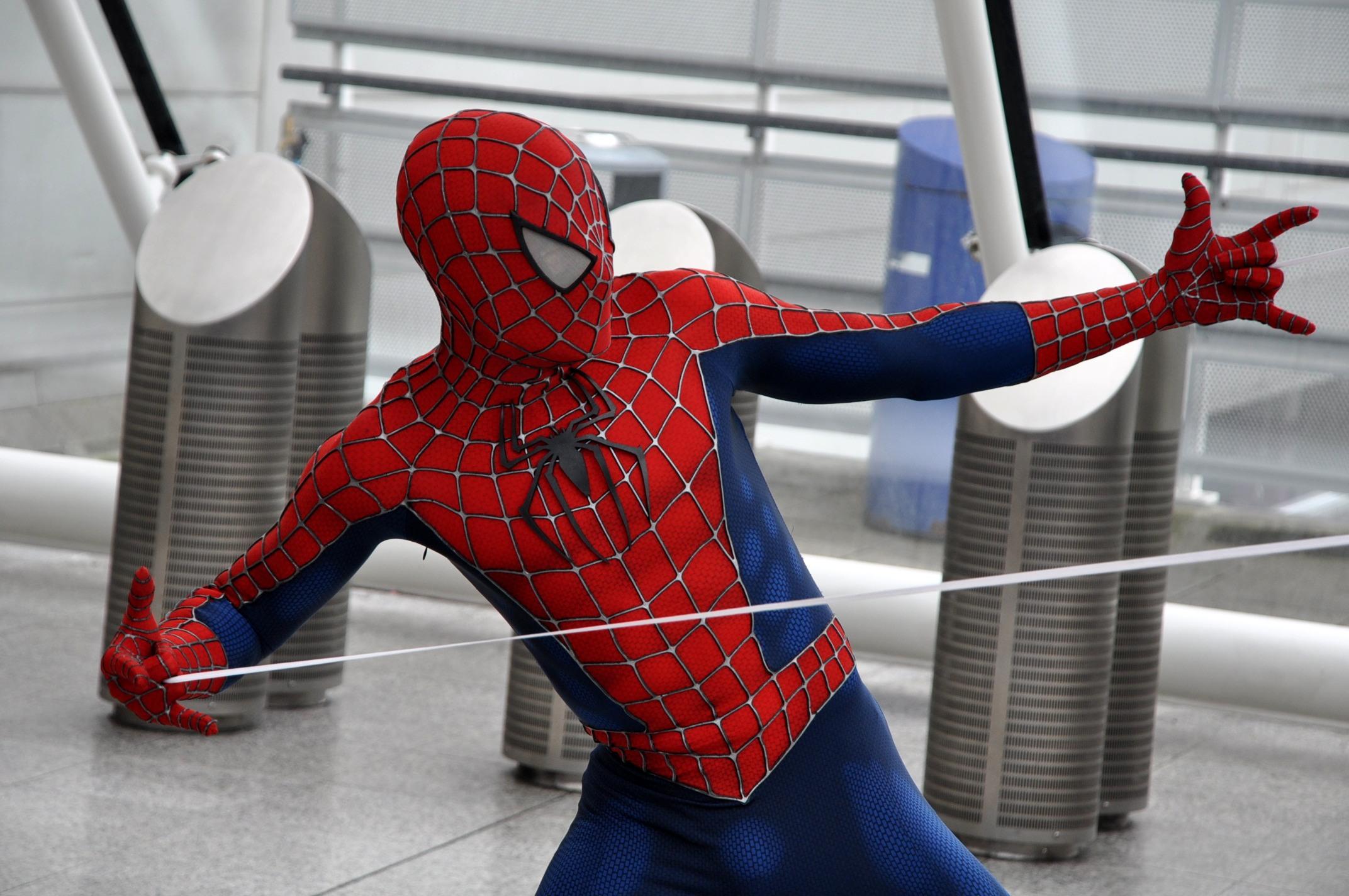 Spiderman hand shooting web