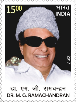 M. G. Ramachandran, was the first actor turned chief minister in India. He has been awarded the Bharat Ratna, India's highest civilian honour MG Ramachandran 2017 stamp of India.jpg