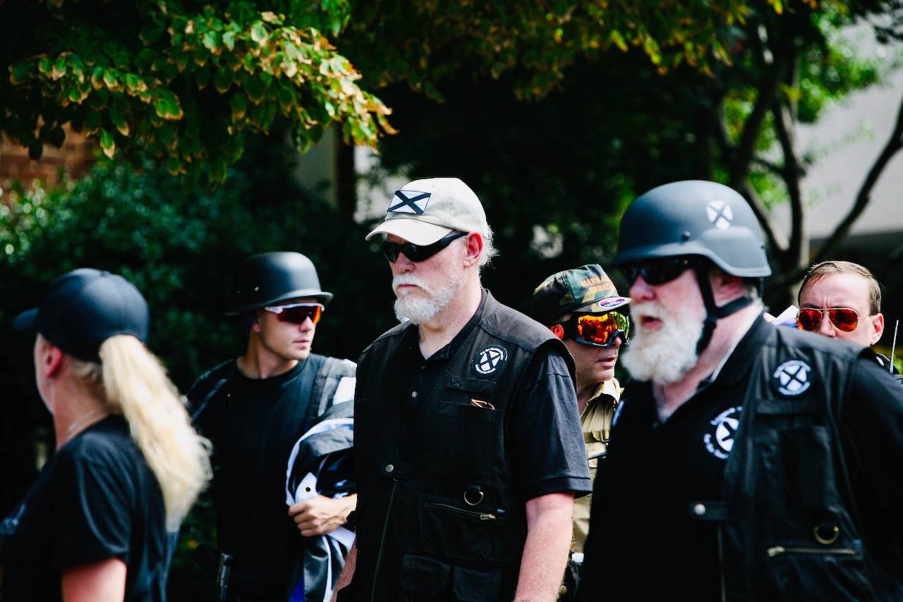 File:MIchael Hill Ike Baker and Jeffrey Clark at Charlottesville rally 2017-full.jpg