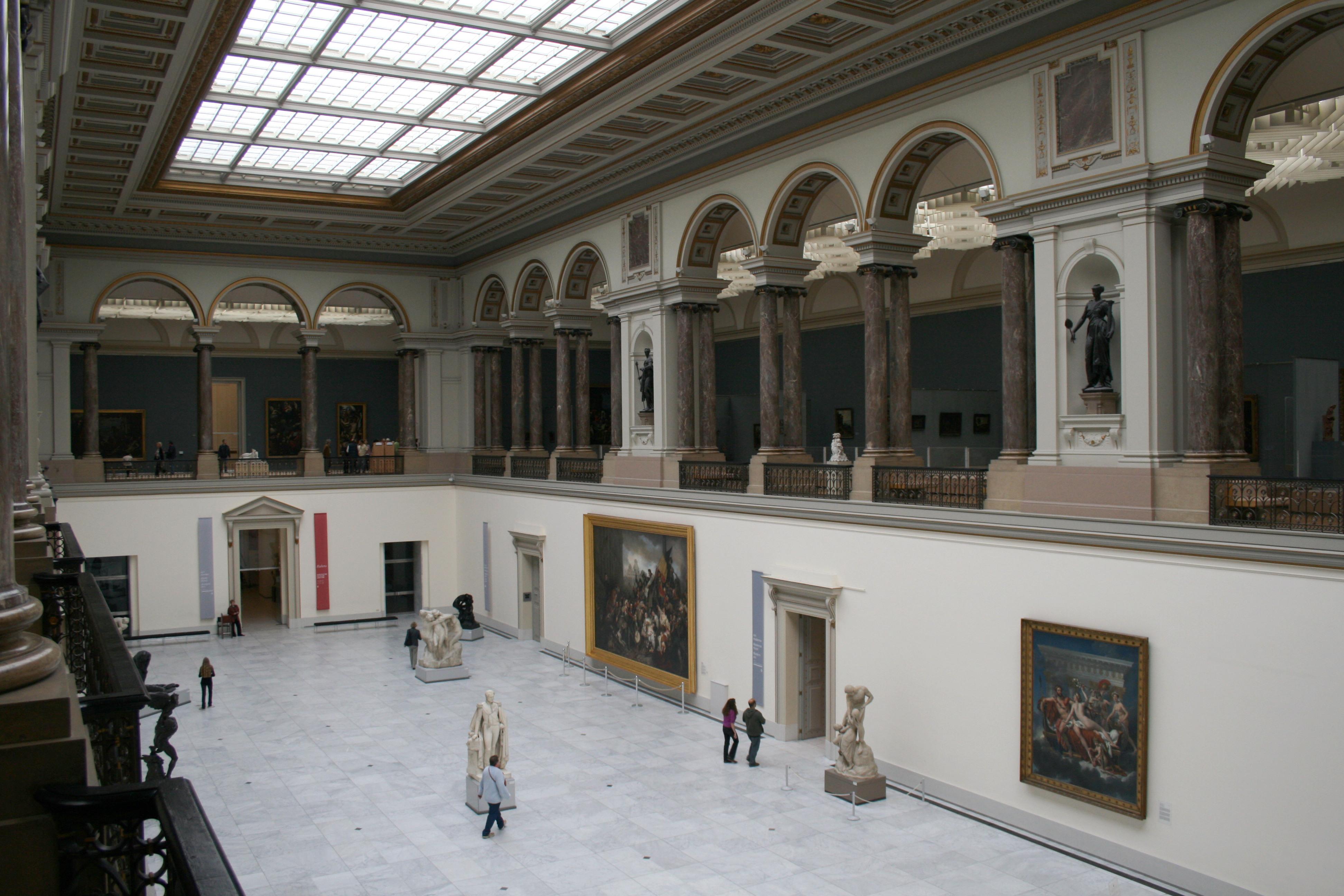 Hall principale del Museo delle Belle Arti di Bruxelles