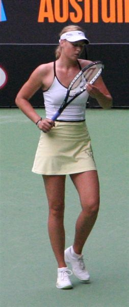 Maria Sharapova at the 2007 Australian Open.