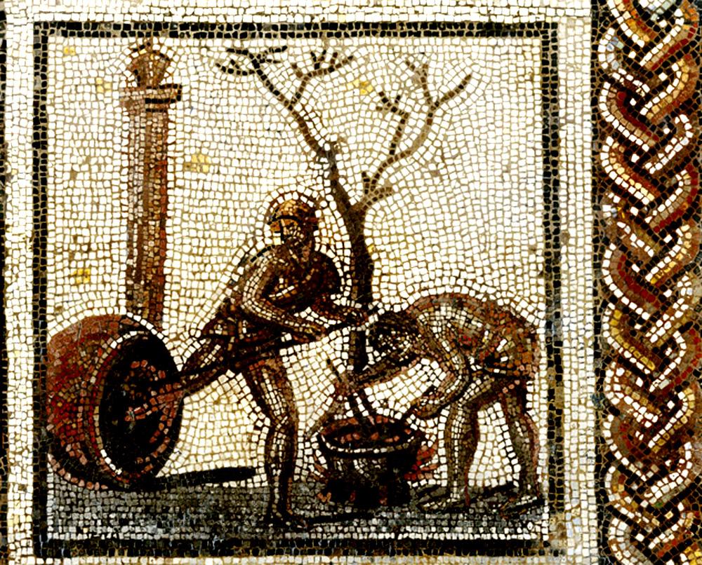 file mosa que de saint romain en gal poissage des wikimedia commons. Black Bedroom Furniture Sets. Home Design Ideas