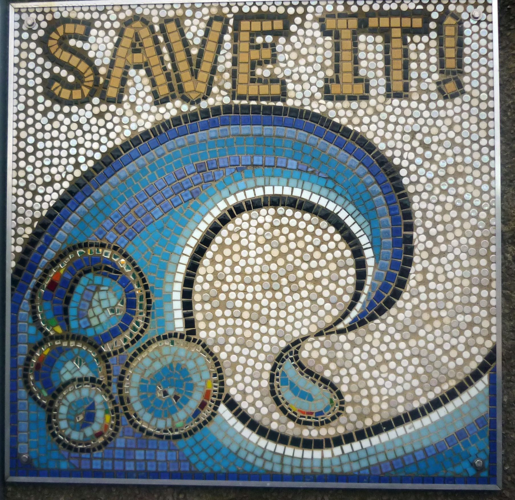 Description Mosaic wall panel, Hornsey Recycling Centre - geograph.org ...