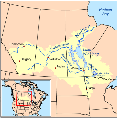 Nelson River watershed