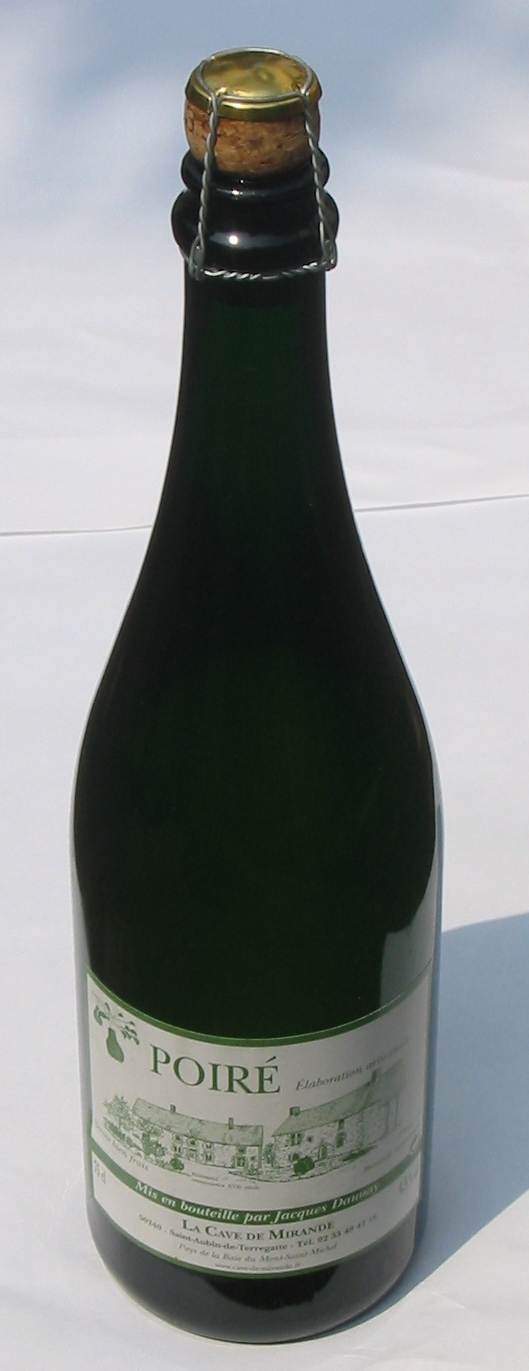 A traditional perry (''poiré'' in French) bottled under cork and cage from [[Normandy