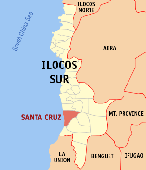 Mapa na Ilocos ed Abalaten ya nanengneng so location na Santa Cruz