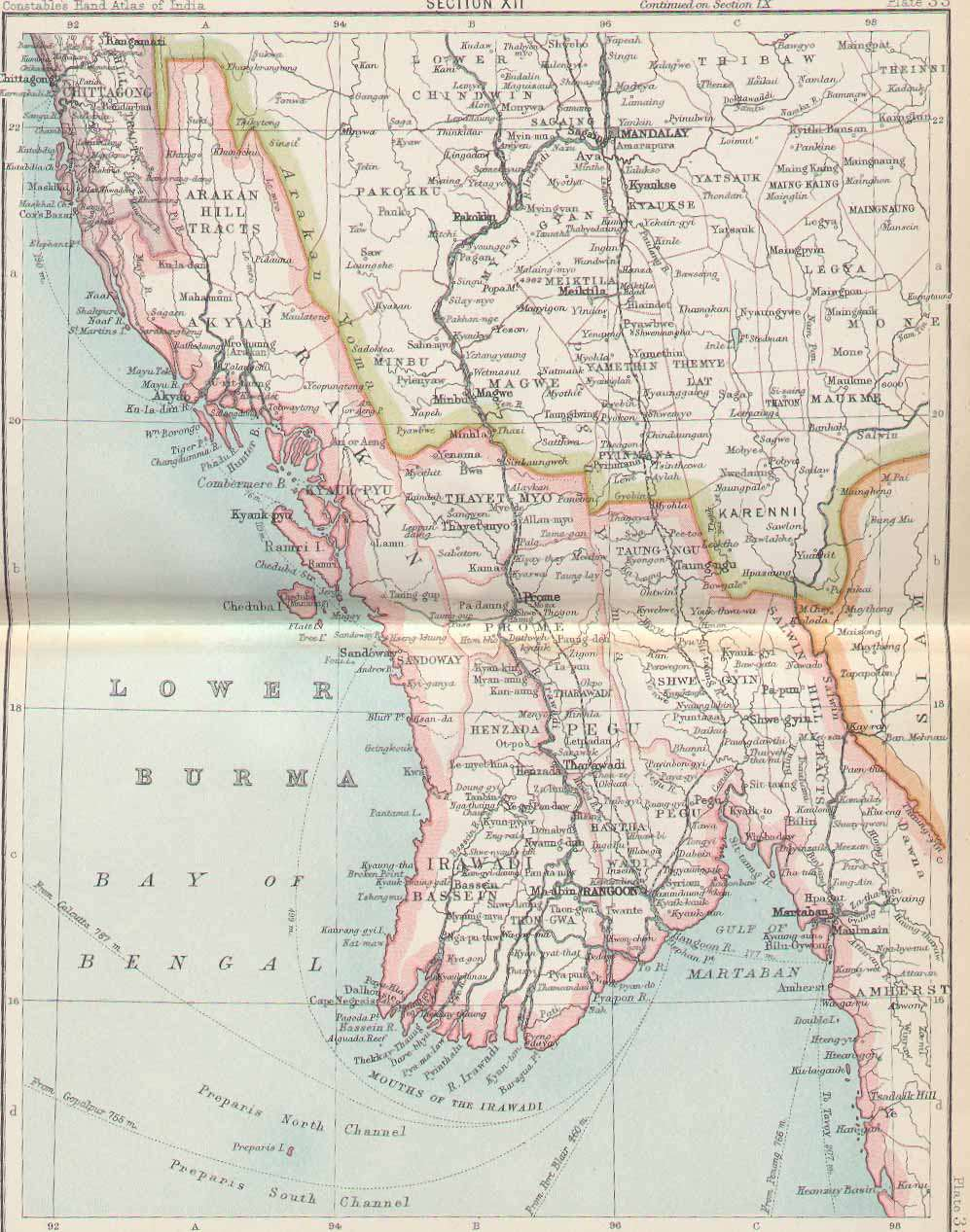 FilePlate Sect XII Lower Burma Maps Of Constsbles Hand - Burma map download