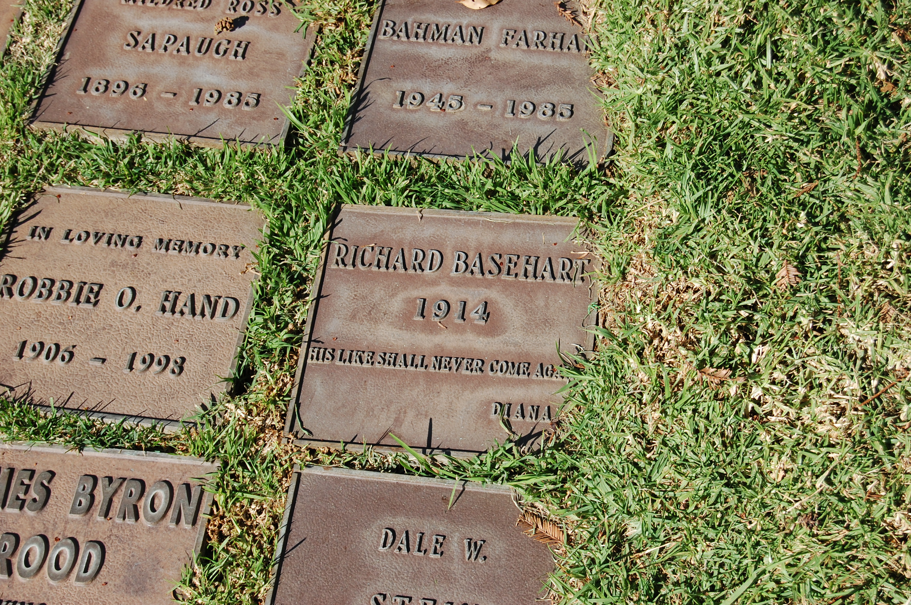 File Richard Basehart Grave At Westwood Village Memorial