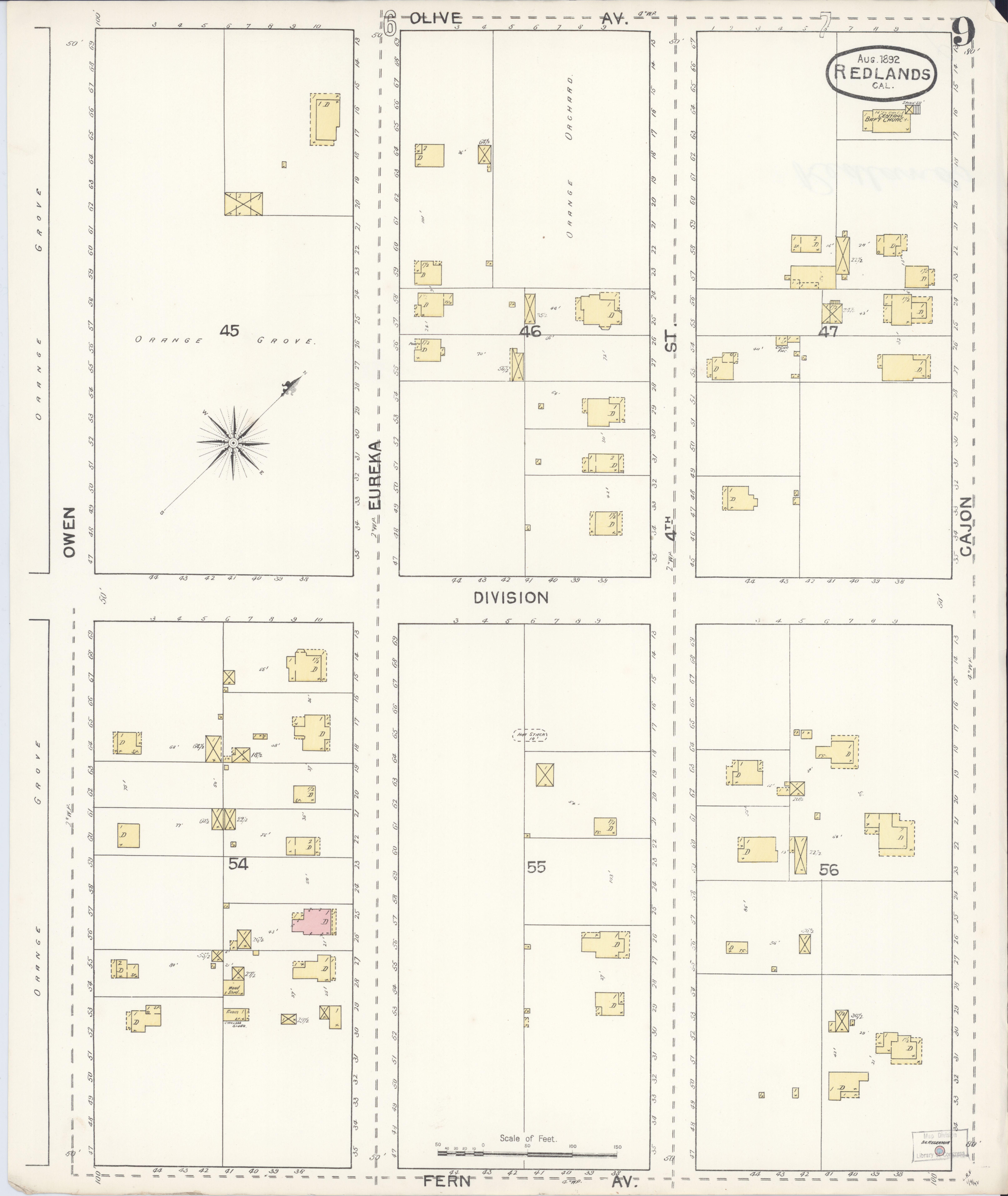 File Sanborn Fire Insurance Map From Redlands San Bernardino County