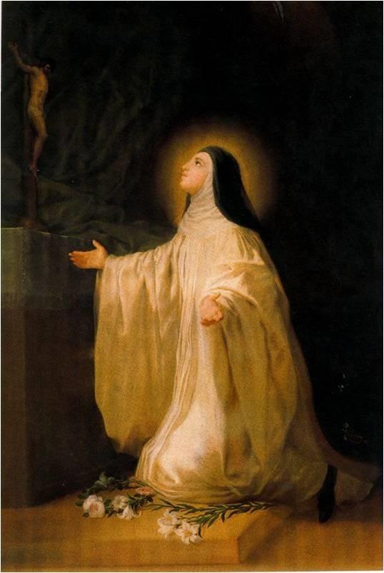 El santo de hoy...Lutgarda, Santa Santa_Lutgarda-Goya