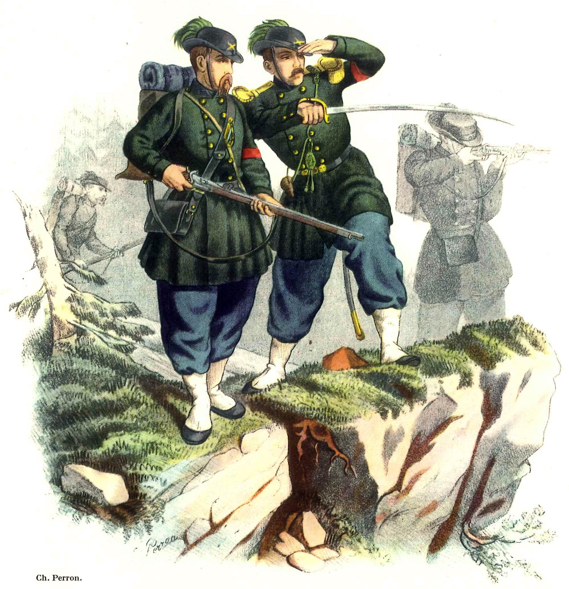 Description schweizer armee scharfschuetzen 1862