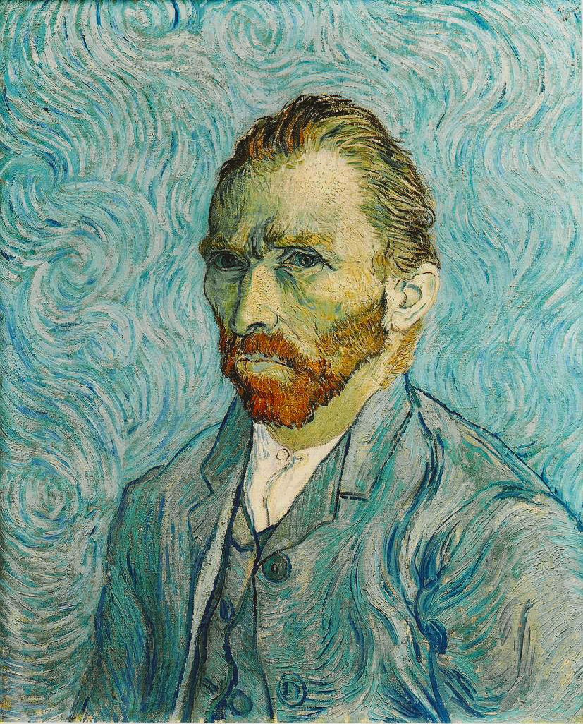 A red-bearded man in a pale blue-green suit gazes to the left.