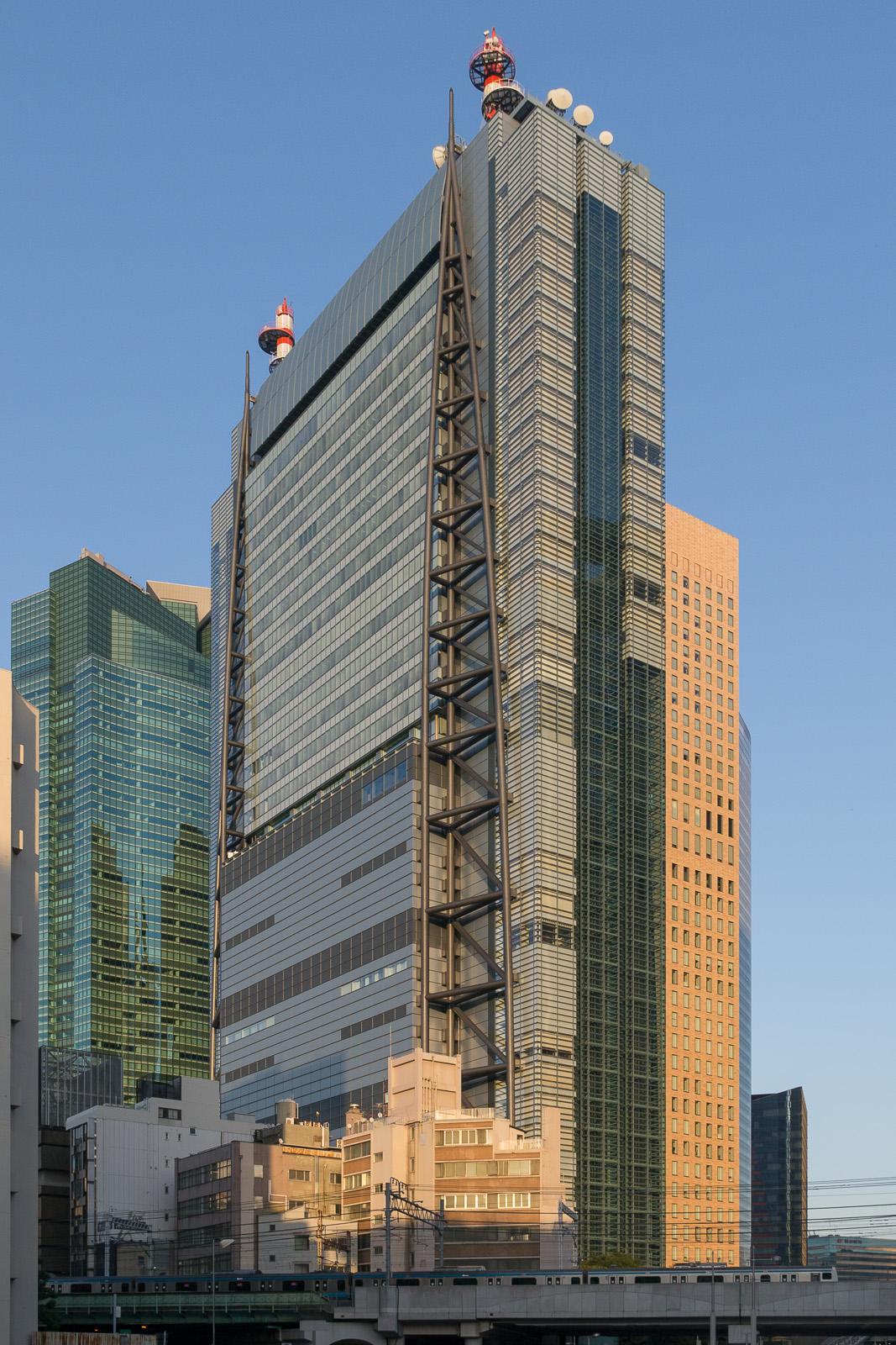 Headquarters of Nippon TV in [[Minato, Tokyo]]