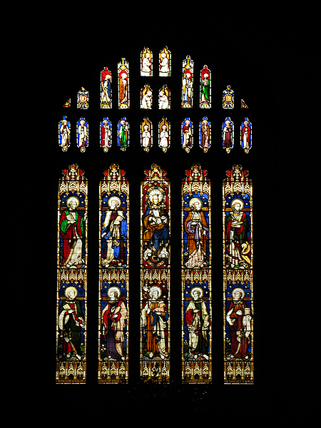 Stained Glass Window , Church at Bibury - geograph.org.uk - 161894