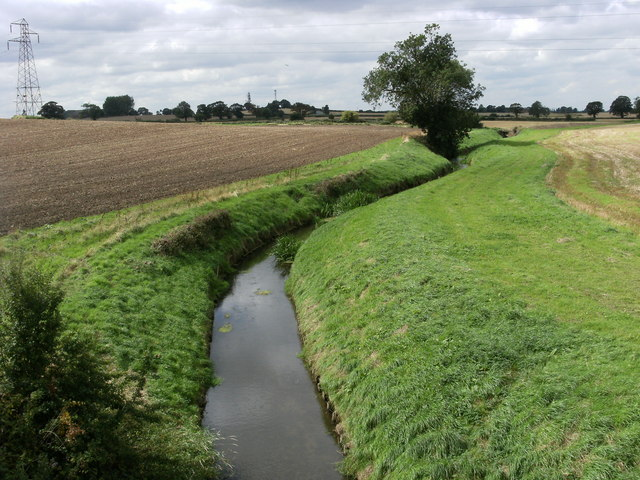 Stillingfleet Beck from the Selby to York Cycleway - geograph.org.uk - 1460586