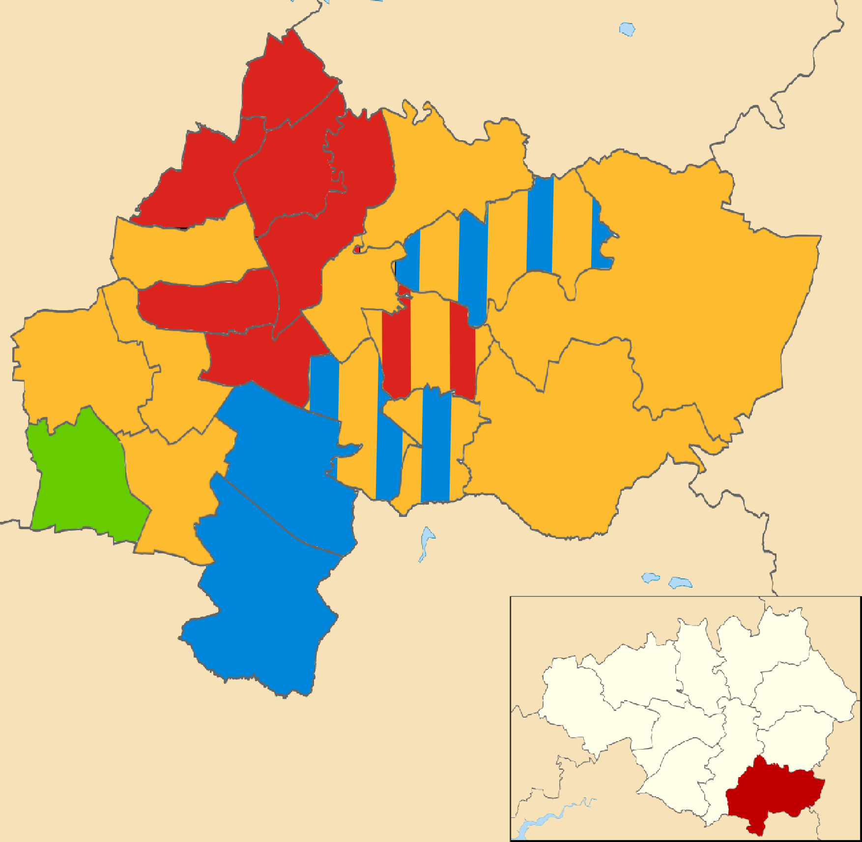 FileStockport Council Composition 2014 Mappng Wikimedia Commons
