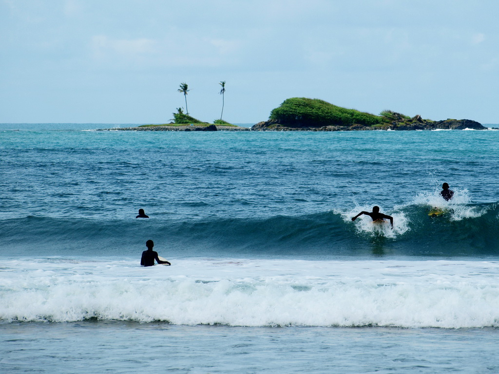 Surfing at Busua